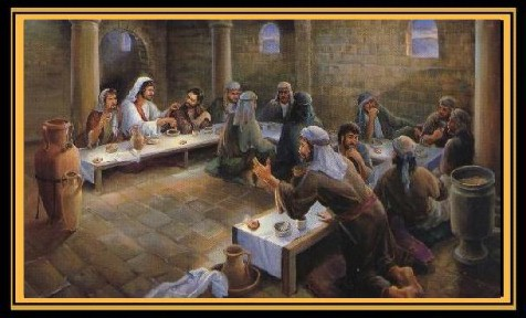 The Betrayal, Biblical art of the Last Supper painted by Marilyn Todd-Daniels.