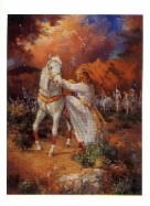 I'll Rise Again, a mailing miniature original picture of Christian Equine art by Marilyn Todd-Daniels.